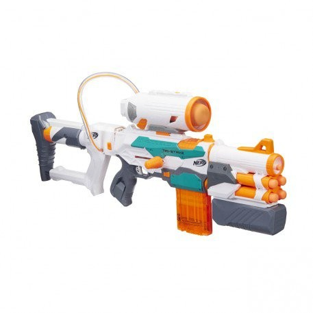 Bargain - $69.99 (was $99.99) - Nerf N-Strike Modulus Tri-Strike | Toyworld