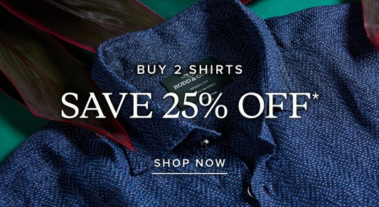 Bargain - 25% Off - CASUAL & BUSINESS SHIRTS @ Rodd & Gunn