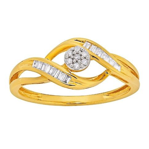 Bargain - $229 (save $370) - 1/5 Carat of Diamonds 9ct Gold Taper Ring @ The Warehouse