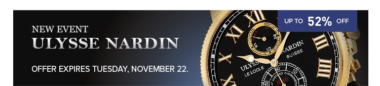 Bargain - Up to 52% OFF - ULYSSE NARDIN SALE EVENT @ Jomashop