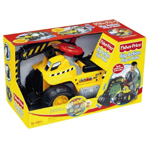 Bargain - $70 (save $79) - Fisher-Price Big Action Dig `n Ride with Electronic Sounds | The Warehouse