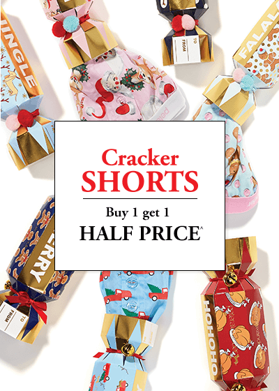 Bargain - Buy 1 Get 1 Half Price - Cracker Shorts @ Peter Alexander