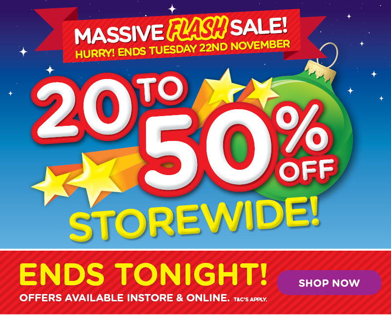 Bargain - 20-50% OFF - Storewide @ Toy World - Ends Tonight