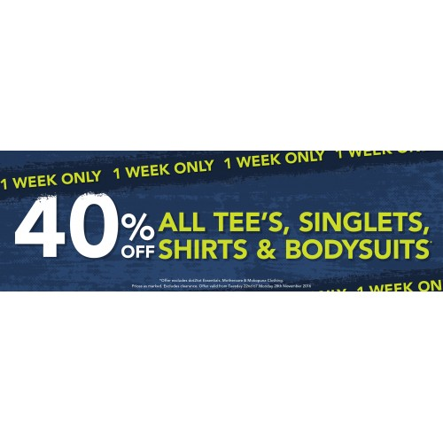 Bargain - 40% Off - All Tee`s, Singlets, Shirts & Bodysuits @ Babycity