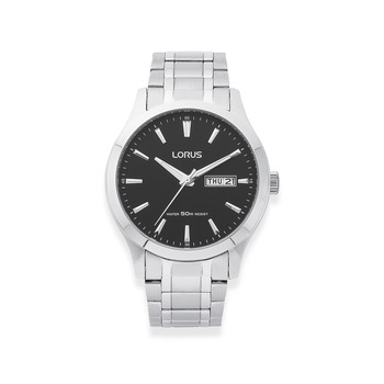 Bargain - $99 (was $150) - Lorus Gents Black Dial Day/Date 50m Water Resistant Watch | Pascoes The Jewellers