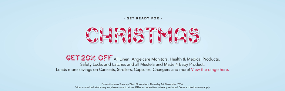 Bargain - 20% Off - Selected Item - Christmas Sale @ Babycity