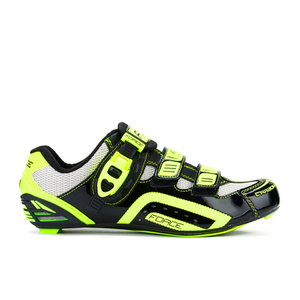 Bargain - $77.49 (69% OFF) - Force Race Carbon Cycling Shoes - Black/Fluro | ProBikeKit New Zealand