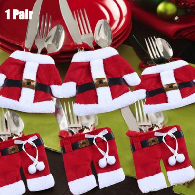 Bargain - $0.99 (Just 98 PCs) - Christmas Santa Claus Jacket and Pant Style Bag-2.55 Online Shopping| GearBest.com