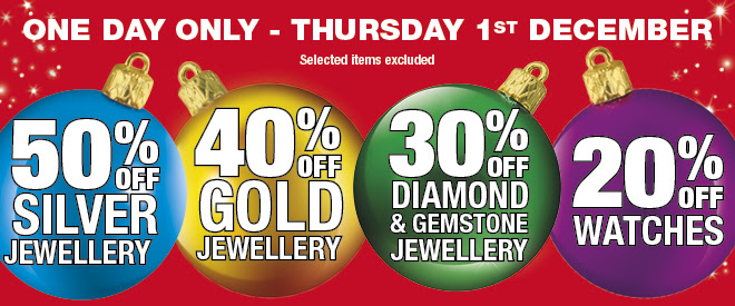 Bargain - Up to 50% OFF - Jewellery - One Day Sale - Thursday Only @ Pascoes