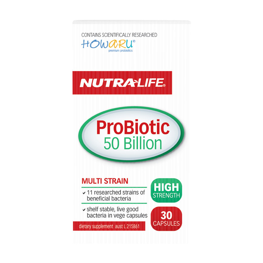 Bargain - $19.99 (was $36.90) - Nutra-Life Probiotic 50 Billion 30s Capsules. - Health & Wellbeing @ Life Pharmacy