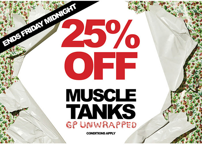 Bargain - 25% OFF - Muscle Tanks @ General Pants Co