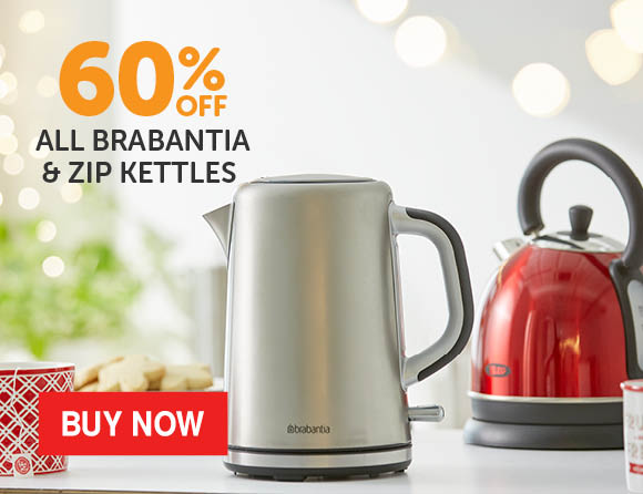 Bargain - 60% OFF - All Brabantia & Zip Kettles @ Briscoes
