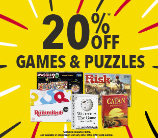Bargain - 20% OFF - Games and Puzzles @ Whitcoulls
