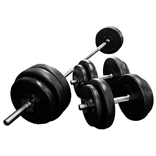 Bargain - $79 (was $159.95) - Olympus 50kg Vinyl Barbell Set | No.1 Fitness