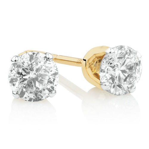 Bargain - $599 (was $1,699) - Stud Earrings with 1/2 Carat TW of Diamonds in 10ct Yellow Gold @ Michael Hill