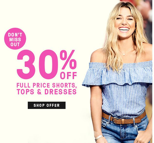 Bargain - 30% Off - Full Price Shorts, Tops & Dresses @ Just Jeans