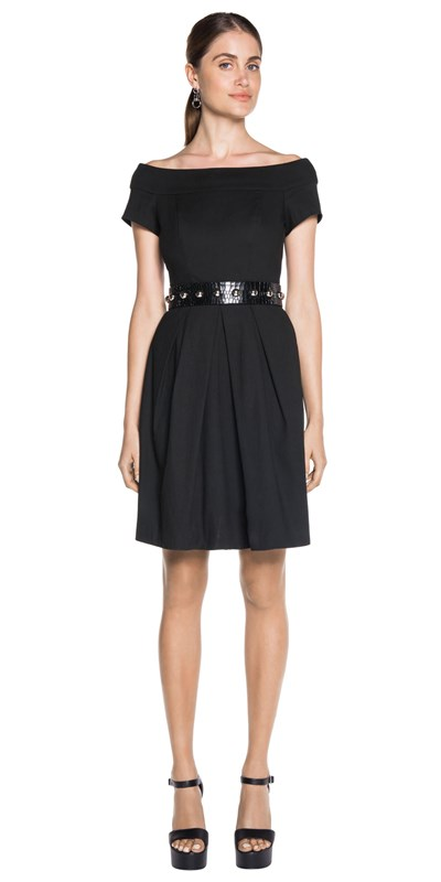Bargain - $237.30 (was $339) - Off The Shoulder Flare Dress @ Cue