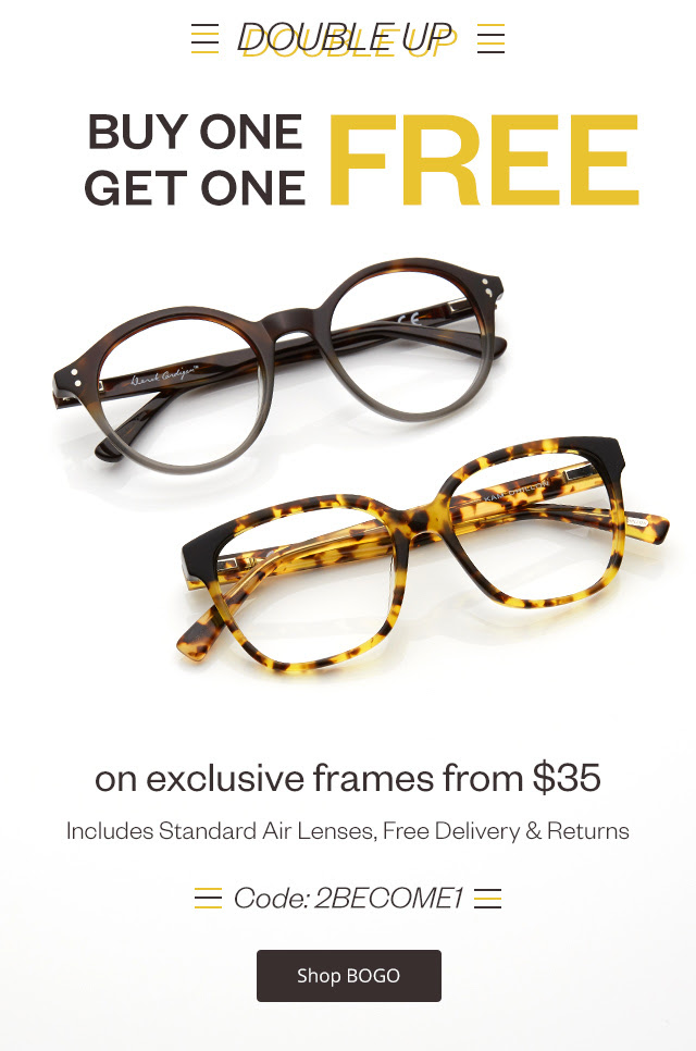 Bargain - Buy One, Get One Free - BOGO Exclusive Brand @ Clearly
