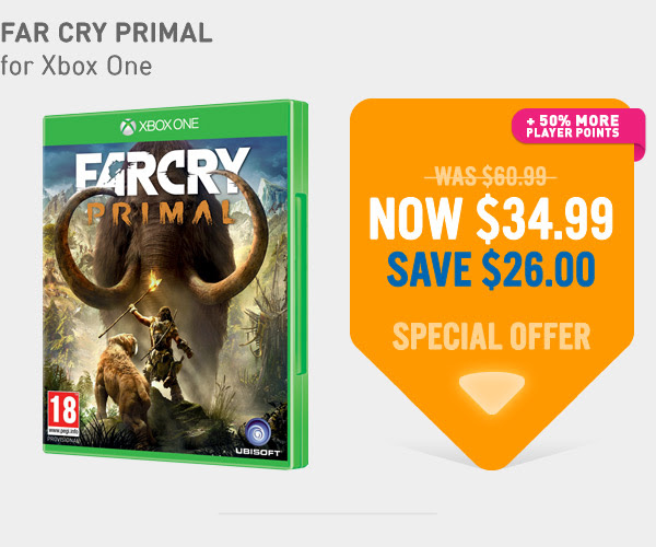 Bargain - $34.99 (was $60.99) - Far Cry Primal Xbox One Game @ NZ Game Shop