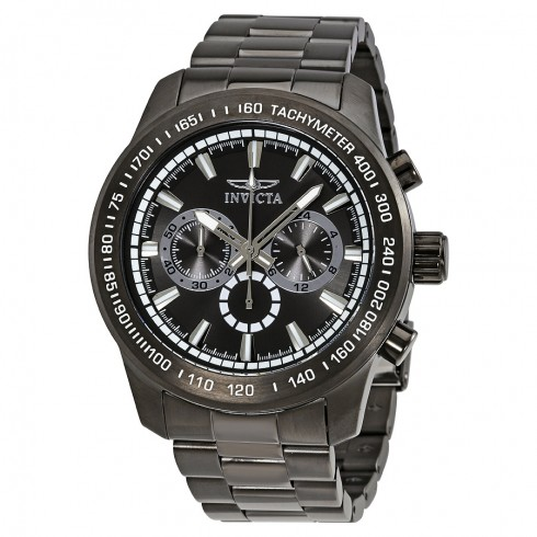 Bargain - $89.99 (85% off) - INVICTA Speedway Chronograph Grey Dial Gunmetal Ion-plated Men`s Watch @ Jomashop