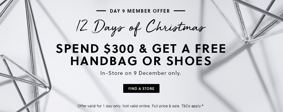 Bargain - Get a Free Handbag or Shoes - Spend $300 @ Witchery