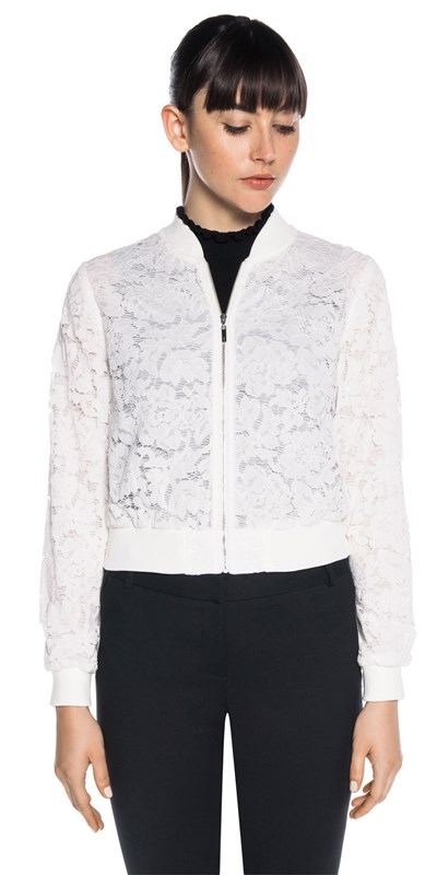 Bargain - $230.30 (was $329) - Lace Bomber Jacket @ Cue