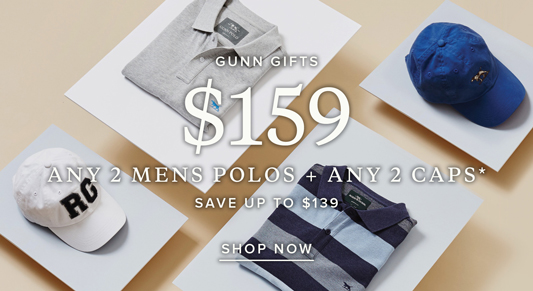 Bargain - Save Up to $139 - Any 2 Men`s Polos + Any 2 Caps @ Rodd & Gunn