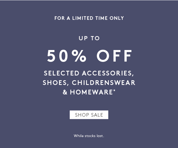Bargain - Up to 50% OFF - Selected Accessories, Shoes, Childrenswear & Homeware @ Country Road