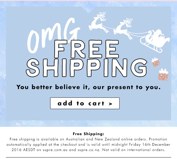 Bargain - Free Shipping - Everything @ Supre
