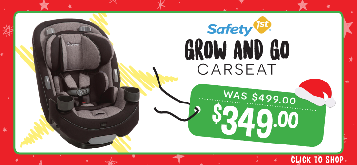 Bargain - $349 (was $499) - Safety First Grow & Go Carseat @ The Baby Factory