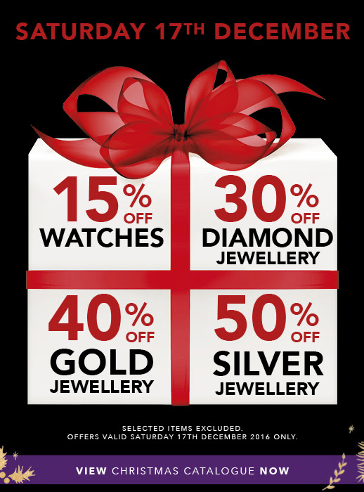 Bargain - Up to 50% OFF - Jewellery @ Stewart Dawsons - Saturday Only