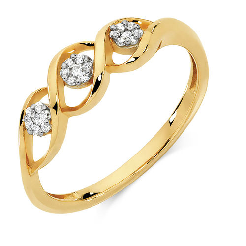 Bargain - $449 (was $699) - Ring with Diamonds in 10ct Yellow Gold @ Michael Hill