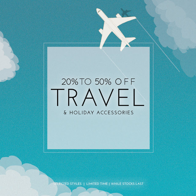 Bargain - 20-50% OFF - TRAVEL ESSENTIALS | Extended @ The Sleep Store