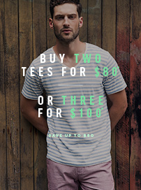 Bargain - Buy 3 for $100 (save Up to $80) - Men`s Tees @ Barkers