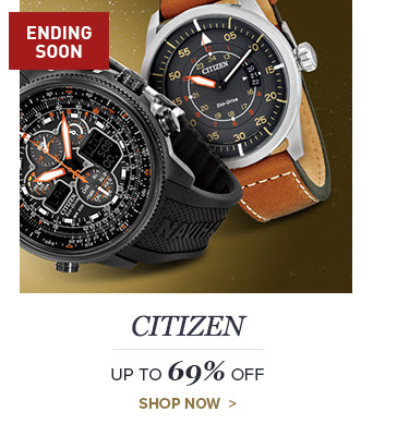 Bargain - Up to 69% OFF - CITIZEN HOLIDAY SALE EVENT @ Jomashop