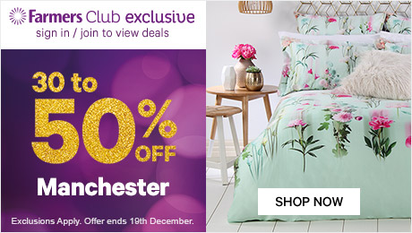 Bargain - 30-50% OFF - Manchester @ Farmers