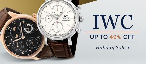 Bargain - Up to 49% OFF - IWC HOLIDAY SALE EVENT @ Jomashop