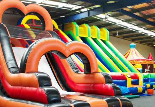 Bargain - $5 (was $8) - Entry into Auckland`s Largest Inflatable Park for Children Up to Four Years @ Bounce and Beyond • GrabOne NZ