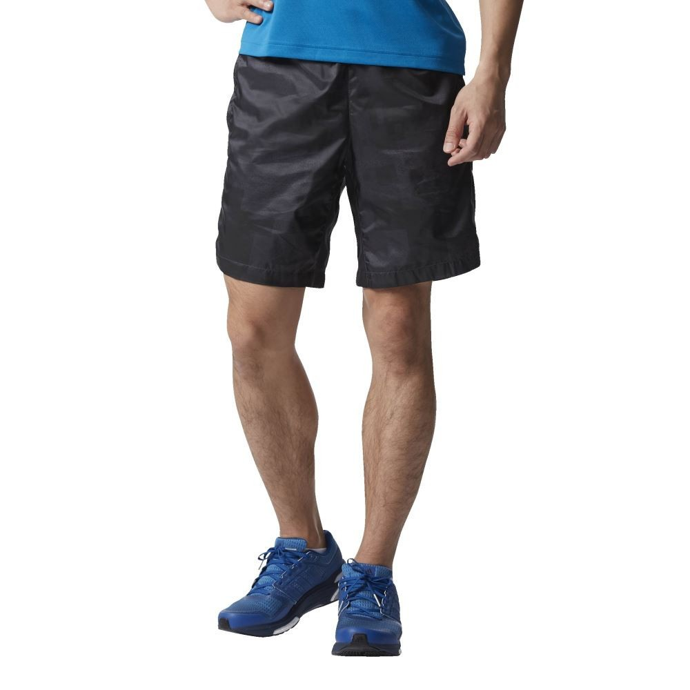 Bargain - $40 (was $70) - Adidas Kanoi Graphic Shorts - Black - Men`s @ Stirling Sports