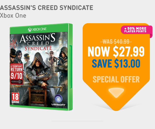 Bargain - $27.99 (save $13) - Assassin`s Creed Syndicate Xbox One Game @ NZ Game Shop