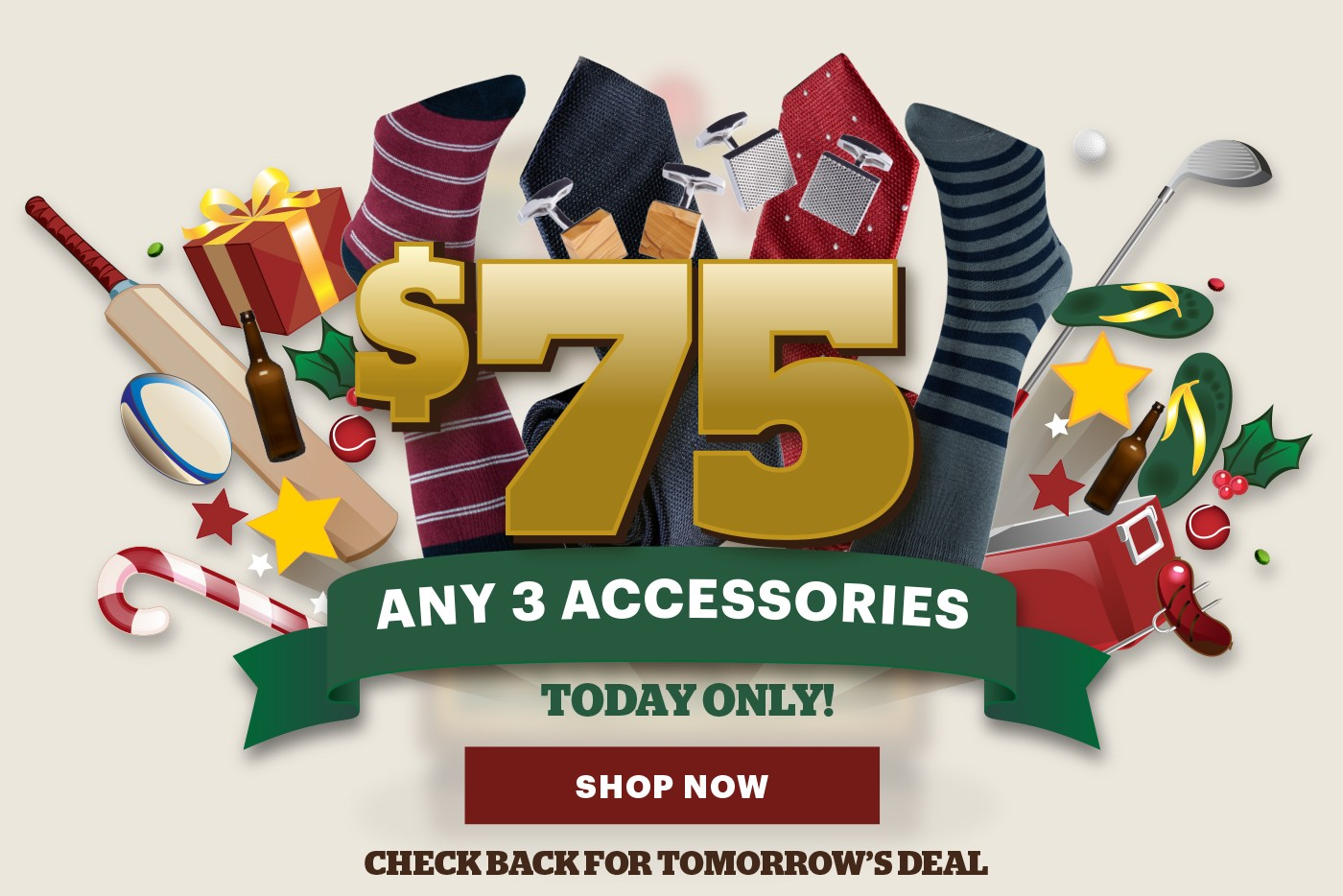 Bargain - only $75 - Any 3 Accessories @ 3 Wise Men