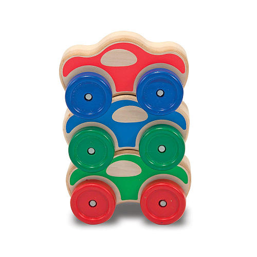 Bargain -  USD $1.98 (was USD $12.99) - Melissa & Doug Stacking Cars Wooden Baby Toy @ Toys Rus