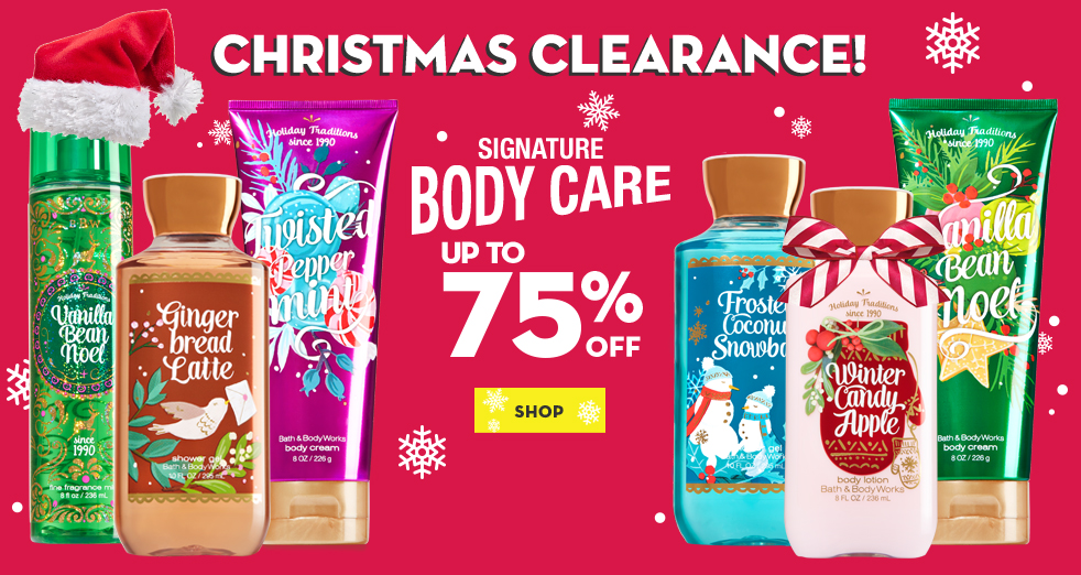 Bargain - Up to 75% OFF - Body Care @ Bath and Body Works