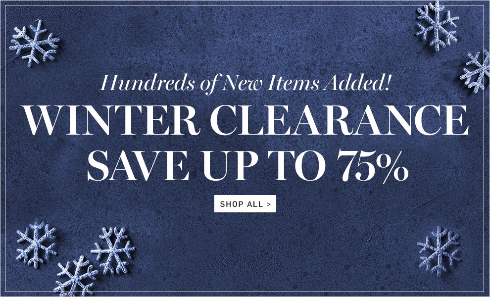 Bargain - Up to 75% OFF - Winter Clearance @ Williams Sonoma