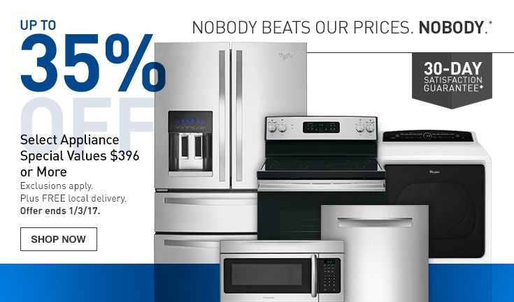 Bargain - Up to 35% OFF - Selected Appliances @ Lowes
