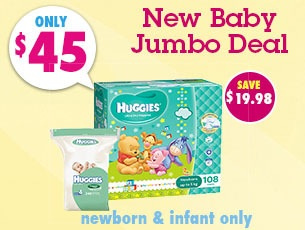 Bargain - only $45 - New Baby Jumbo Deal @ Nappies Direct