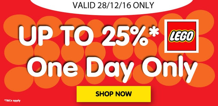 Bargain - Up to 25% OFF - One Day Sale on LEGO @ Toyco - Wednesday Only