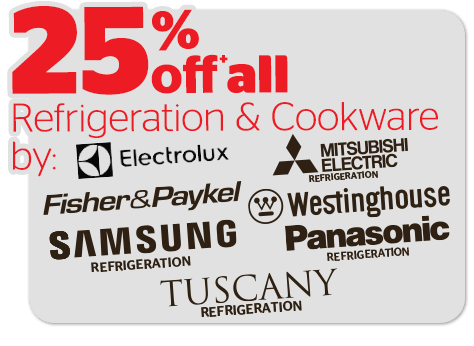 Bargain - 25% OFF - Refrigeration & Cookware @ Noel Leeming