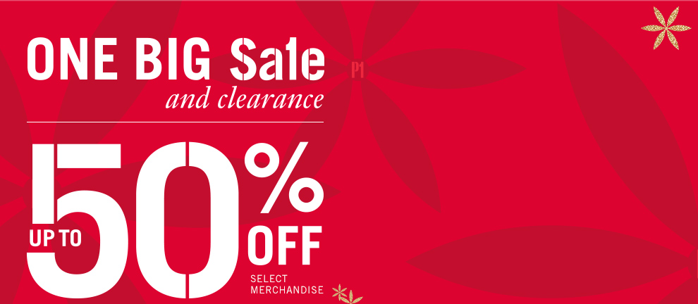 Bargain - Up to 50% OFF - One Big Sale Clearance @ Pier 1