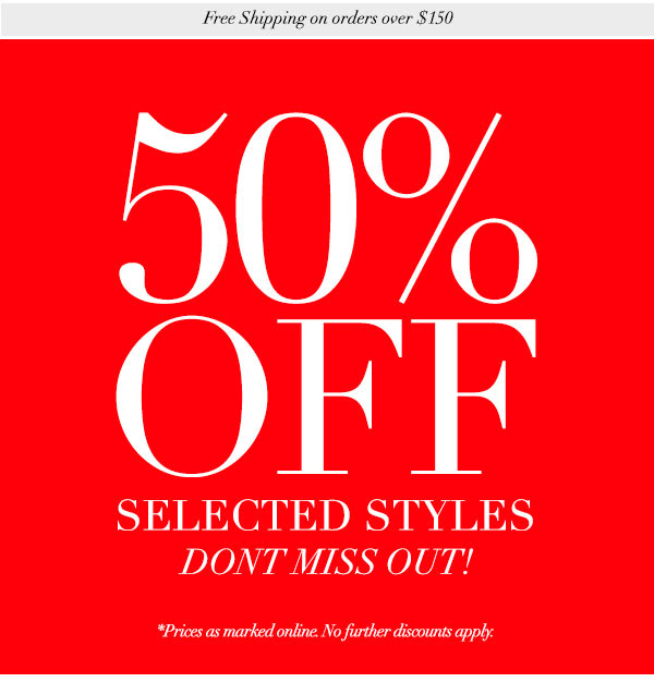 Bargain - 50% OFF - Selected Styles Extended @ Decjuba